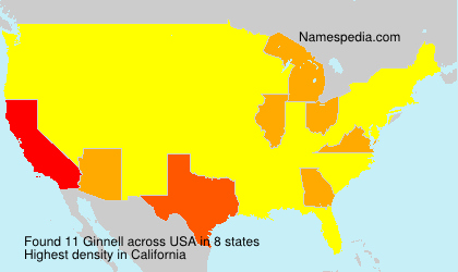 Surname Ginnell in USA
