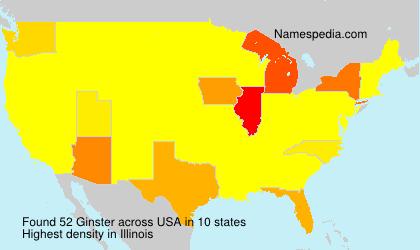 Familiennamen Ginster - USA