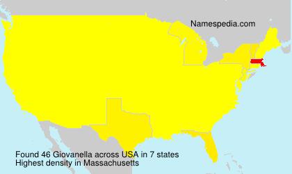 Familiennamen Giovanella - USA