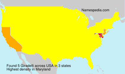 Surname Giradelli in USA
