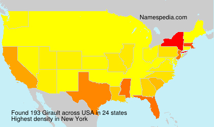 Surname Girault in USA