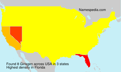 Surname Girisgen in USA