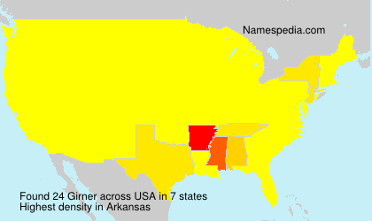 Familiennamen Girner - USA