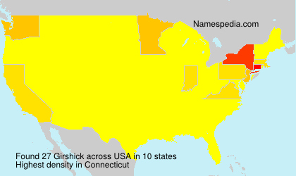 Surname Girshick in USA