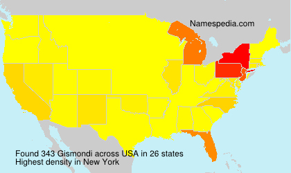 Surname Gismondi in USA