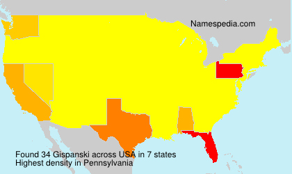 Surname Gispanski in USA