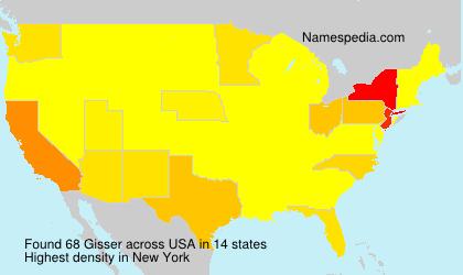 Familiennamen Gisser - USA