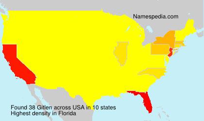 Surname Gitlen in USA