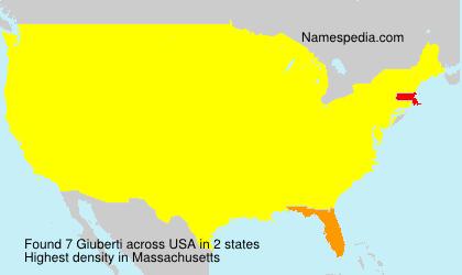 Surname Giuberti in USA