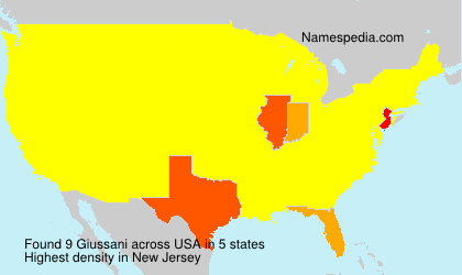 Surname Giussani in USA
