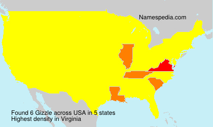 Surname Gizzle in USA