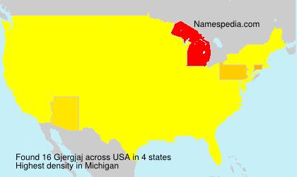 Surname Gjergjaj in USA
