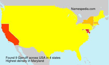 Surname Gjerulff in USA