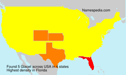 Surname Glacet in USA