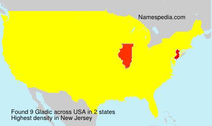 Surname Gladic in USA