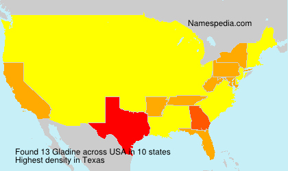 Surname Gladine in USA