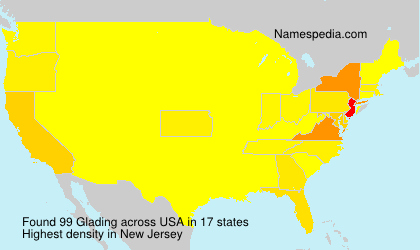 Surname Glading in USA