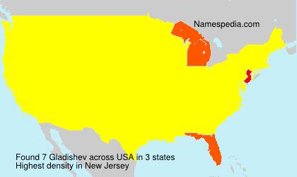 Surname Gladishev in USA
