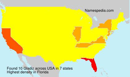 Surname Gladiz in USA