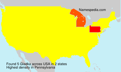 Surname Gladka in USA