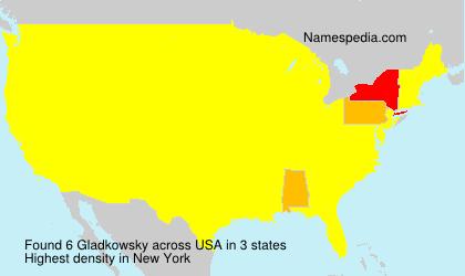 Surname Gladkowsky in USA