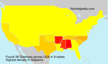 Surname Gladness in USA