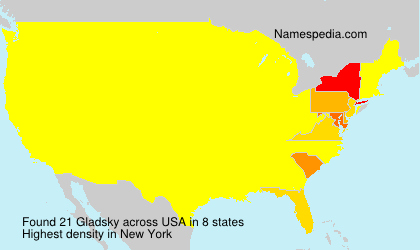 Surname Gladsky in USA