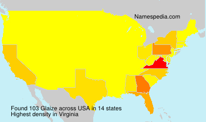 Surname Glaize in USA