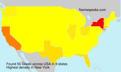 Familiennamen Glaski - USA