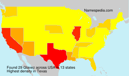 Surname Glavez in USA