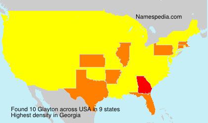 Surname Glayton in USA