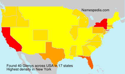 Surname Glenys in USA