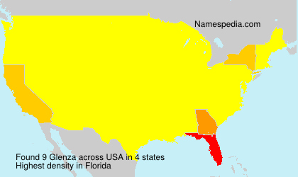 Familiennamen Glenza - USA