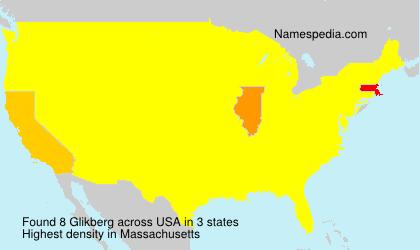 Surname Glikberg in USA