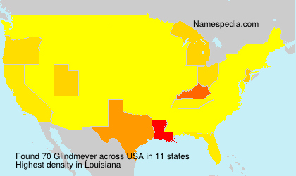 Surname Glindmeyer in USA
