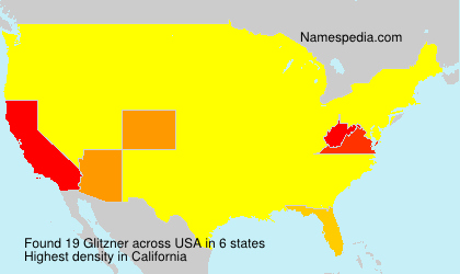 Surname Glitzner in USA