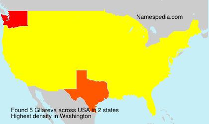 Familiennamen Gllareva - USA