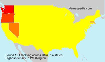 Surname Glockling in USA