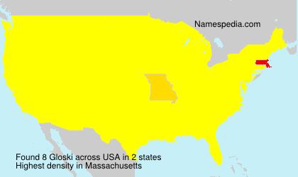 Familiennamen Gloski - USA