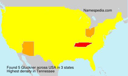 Surname Gluckner in USA