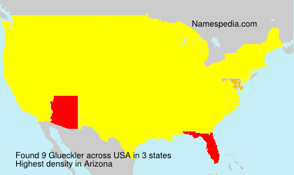 Surname Glueckler in USA