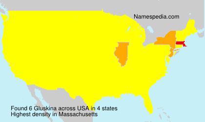 Surname Gluskina in USA
