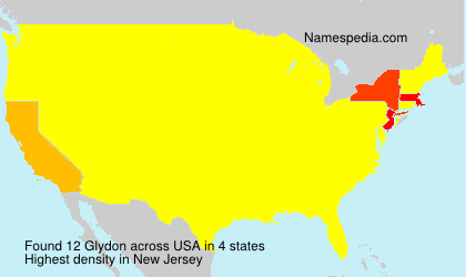 Surname Glydon in USA