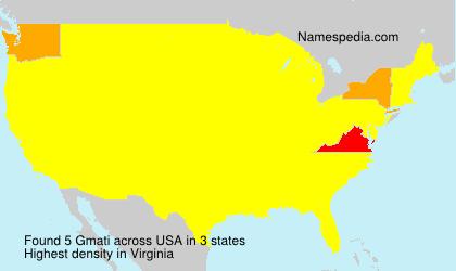 Familiennamen Gmati - USA