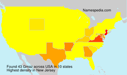 Surname Gmaz in USA