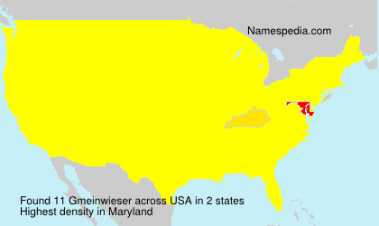 Surname Gmeinwieser in USA