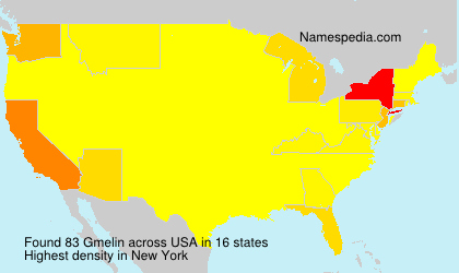 Surname Gmelin in USA