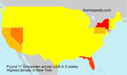 Surname Gmuender in USA