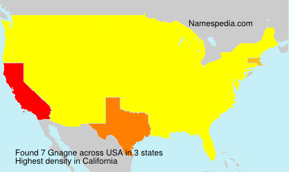 Surname Gnagne in USA