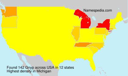 Surname Gnyp in USA